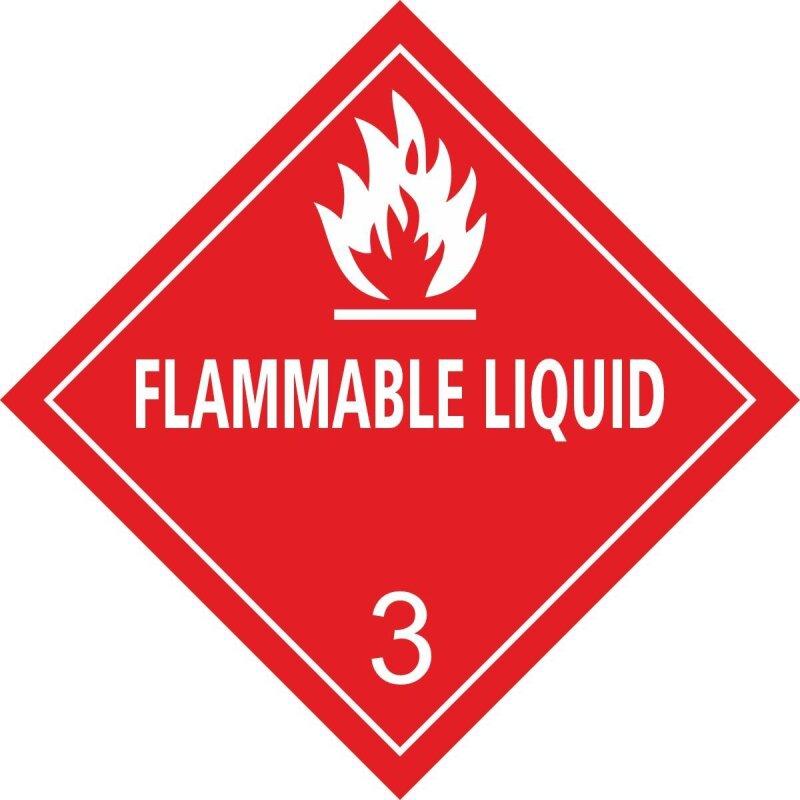 "Aufkleber ""OSHA, Flammable Liquid"", Class 3, Premiumqualität 52 mm (10 Stk.)"