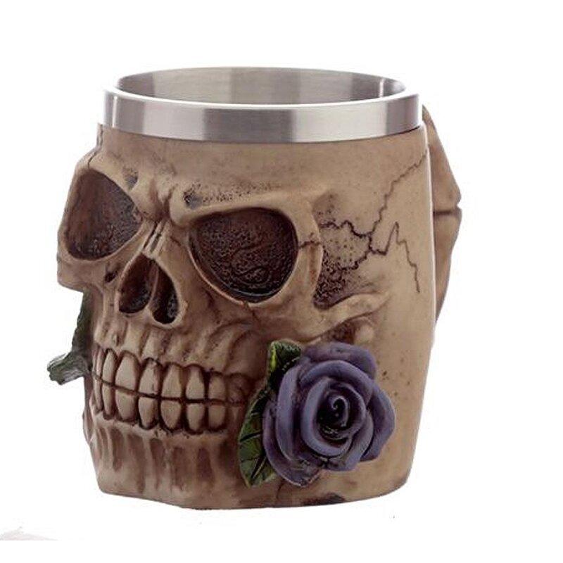 Skull and Roses Krug violette Rose - Nur Dekoration