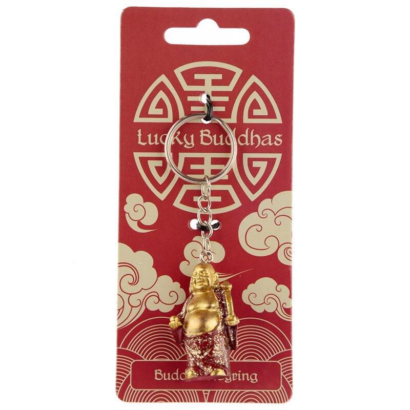 Glitter Buddha Schlüsselanhänger dunkelbraun