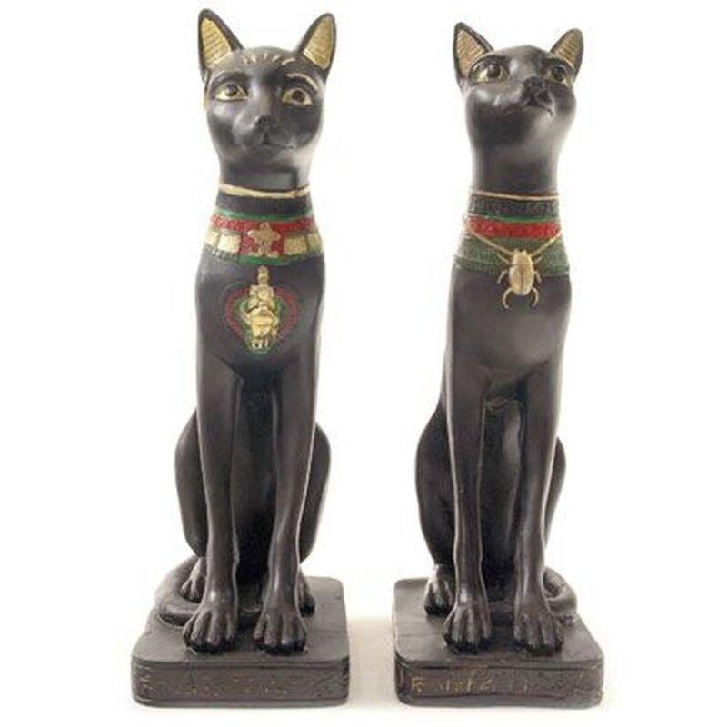 Agyptische Bast - 2er Set - Tolle Deko-Figur