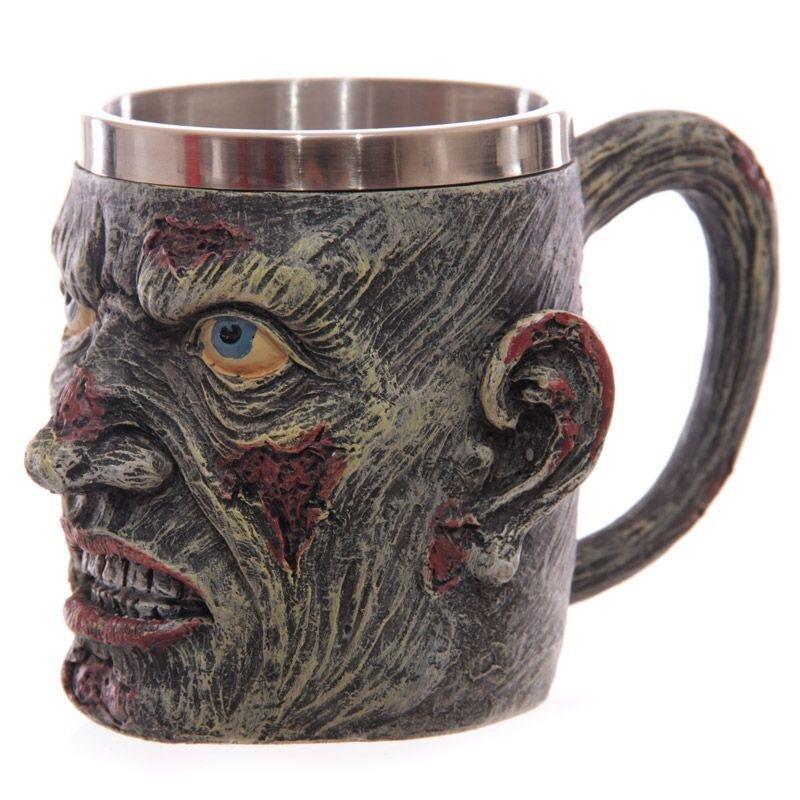 Zombie Kopf Krug - Nur Dekoration, tolle Geschenkidee und für Halloween