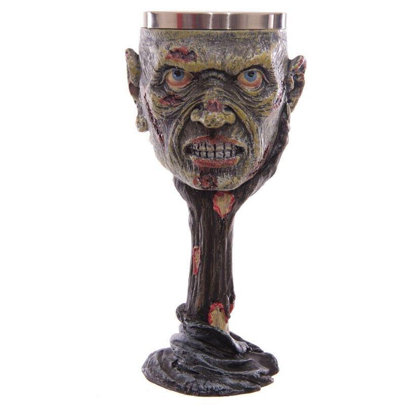 Zombie Kopf Kelch - Nur dekorativ, tolle Geschenkidee und für Halloween