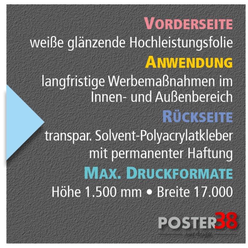 PolyPrint mit transparentem Kleber