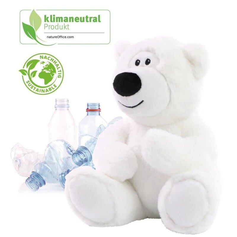 RecycelBär Ice Größe M, superweicher Teddy