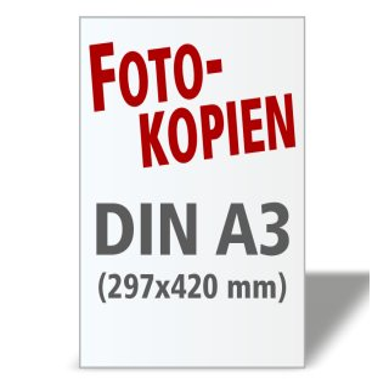 Fotokopien DIN A3