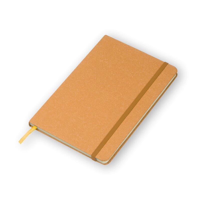 Notizbuch A5, Hardcover in braun - Stiftschlaufe, Lesezeichen, 160 Seiten gepunktet