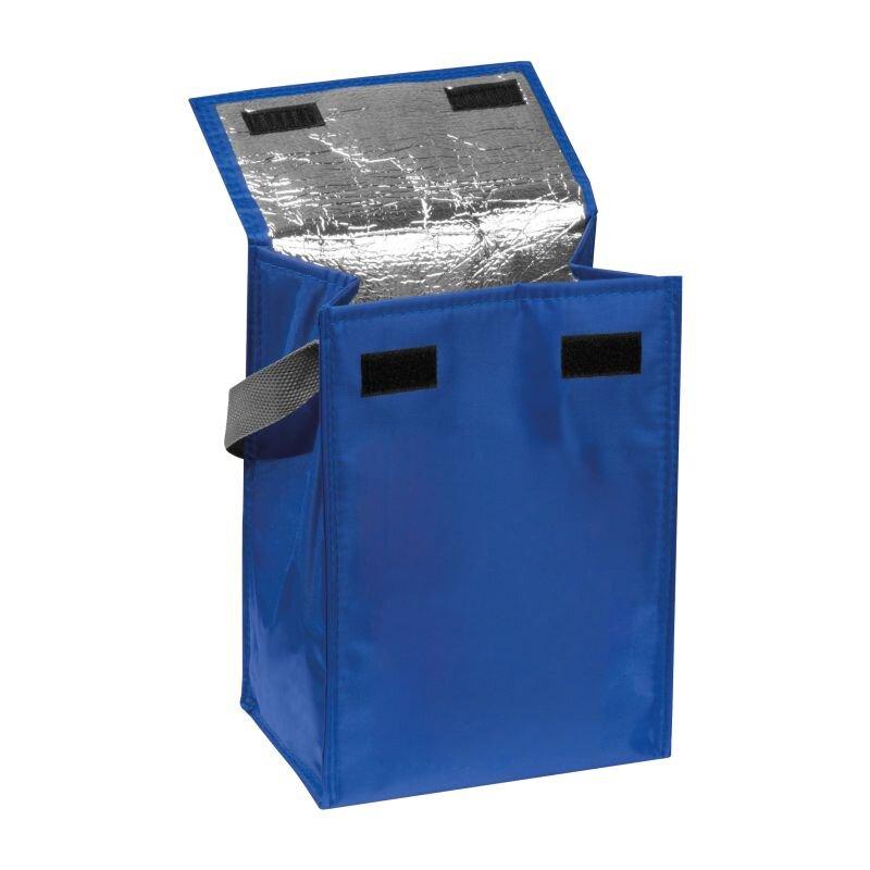 Kleine Kühltasche mit Henkel, faltbar, blau