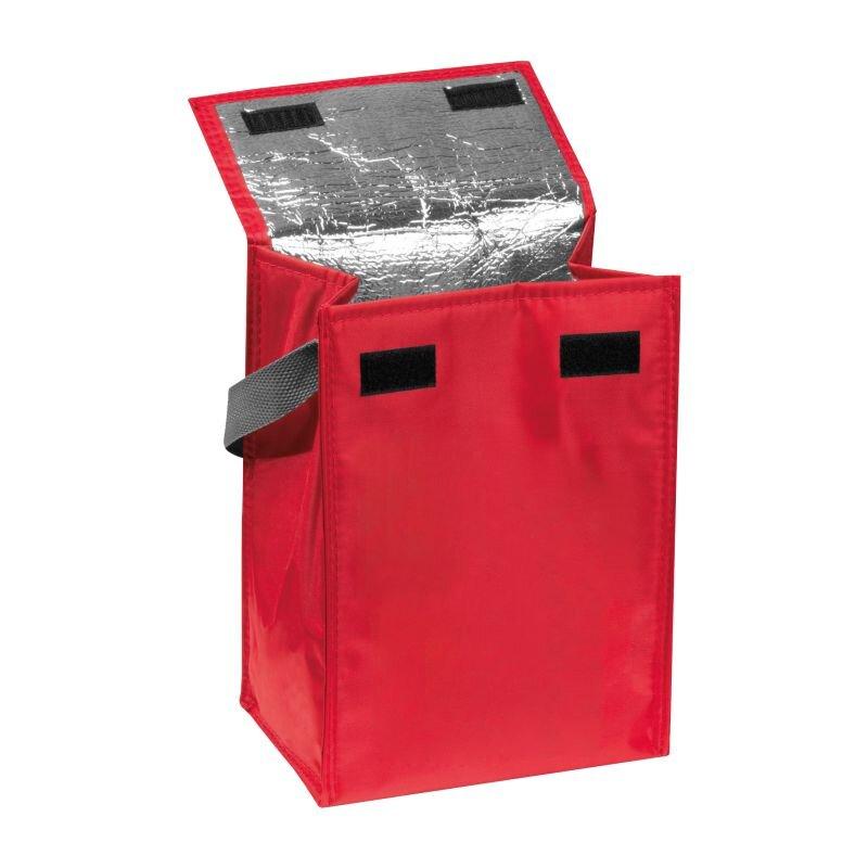 Kleine Kühltasche mit Henkel, faltbar, rot