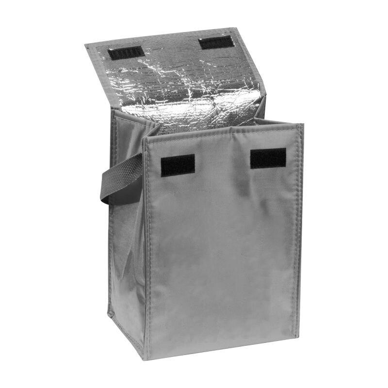 Kleine Kühltasche mit Henkel, faltbar, grau
