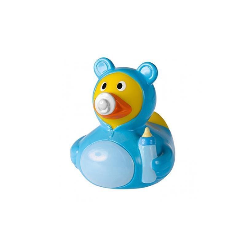 Quietsche-Ente Baby Junge Blau