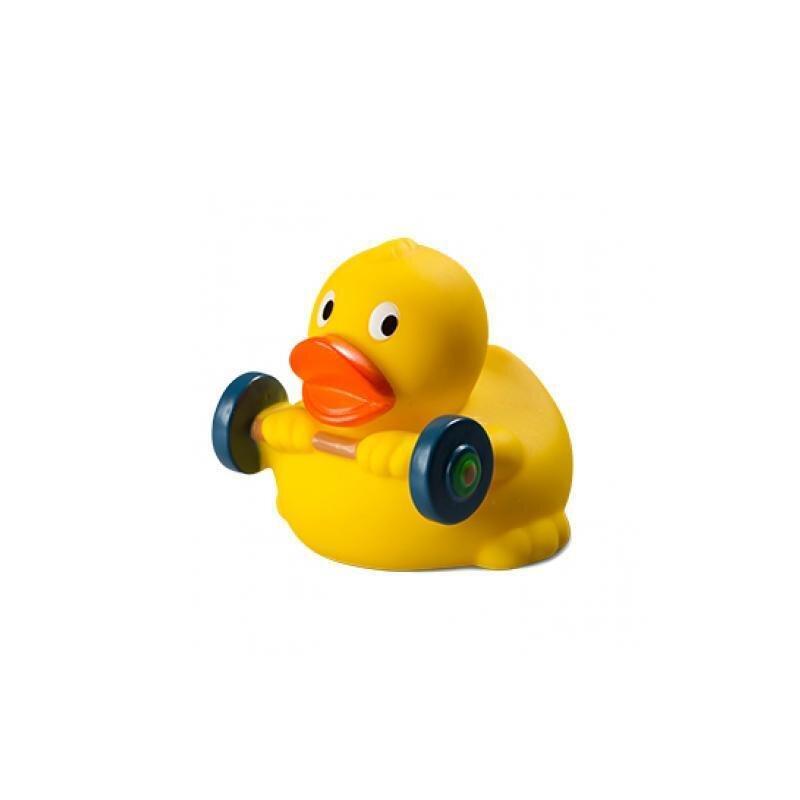 Quietsche-Ente Gewichtheber