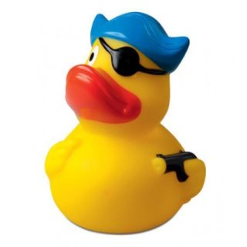 Quietsche-Ente Pirat mit Hut u. Augenklappe