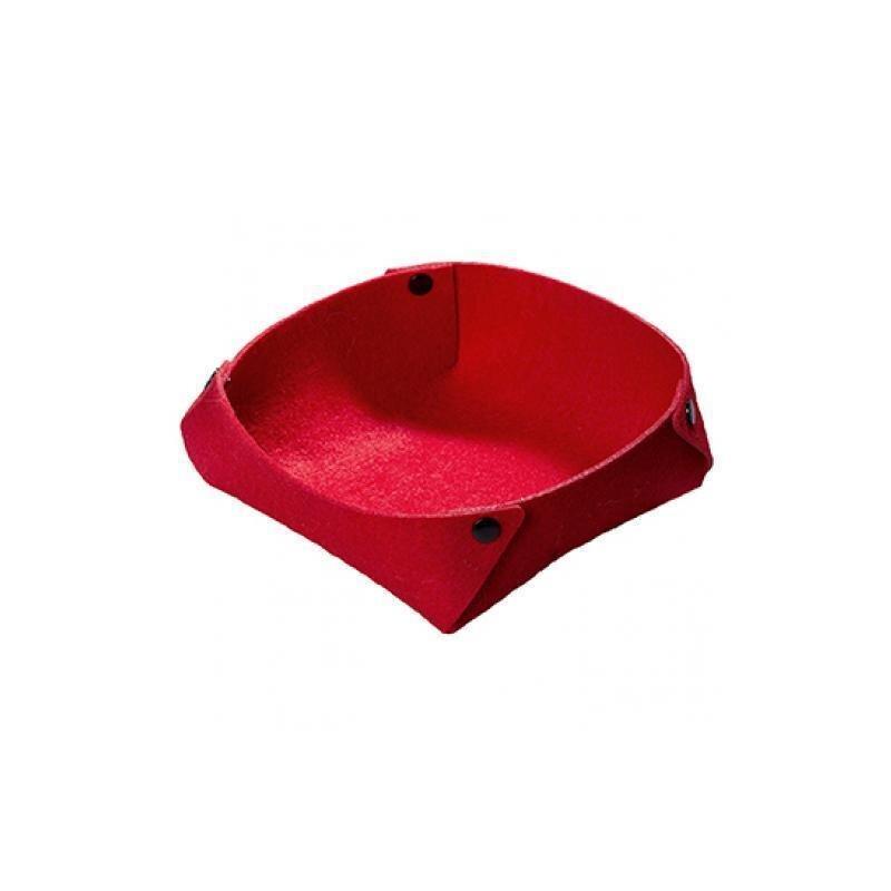 Rotes Filzkörbchen in modernem Design