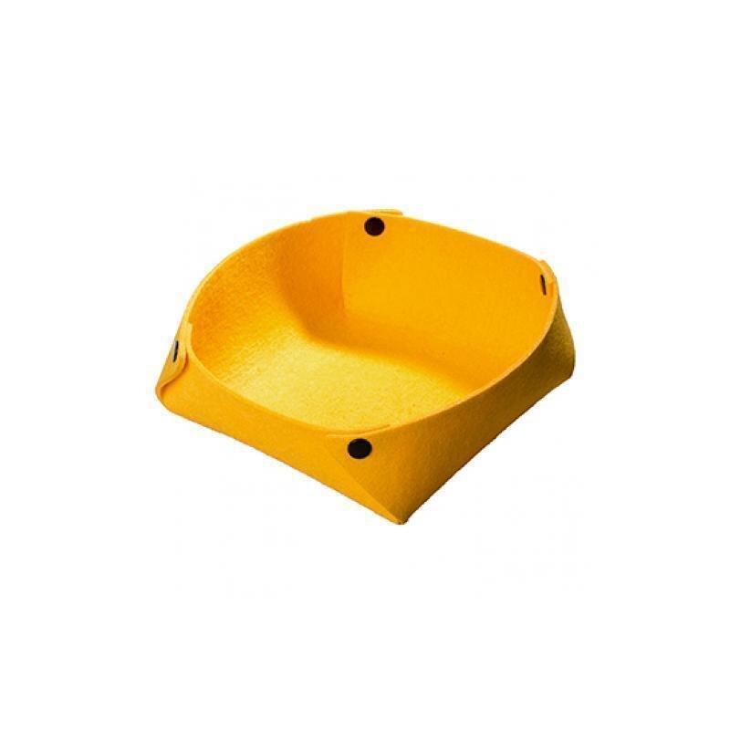 Gelbes Filzkörbchen in modernem Design