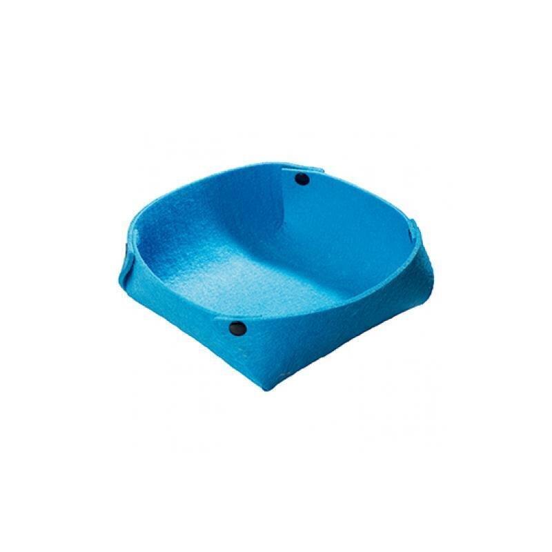 Blaues Filzkörbchen in modernem Design