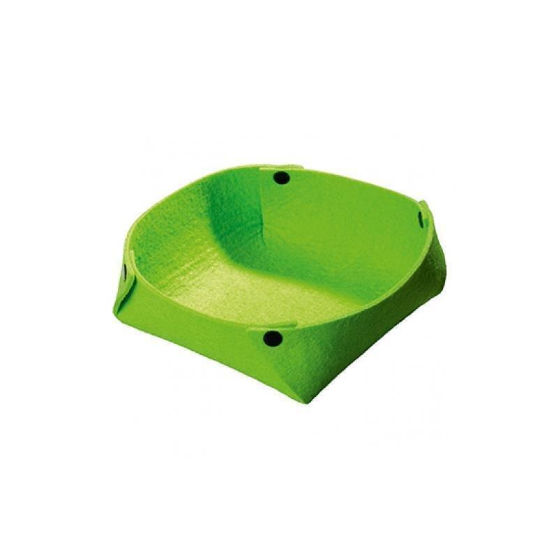 Grünes Filzkörbchen in modernem Design