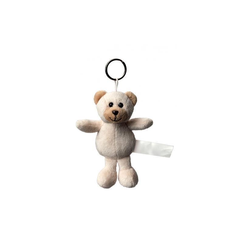 Plüsch Schlüsselanhänger Bär beige