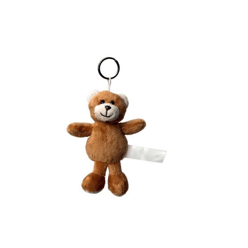 Plüsch Schlüsselanhänger Bär hellbraun