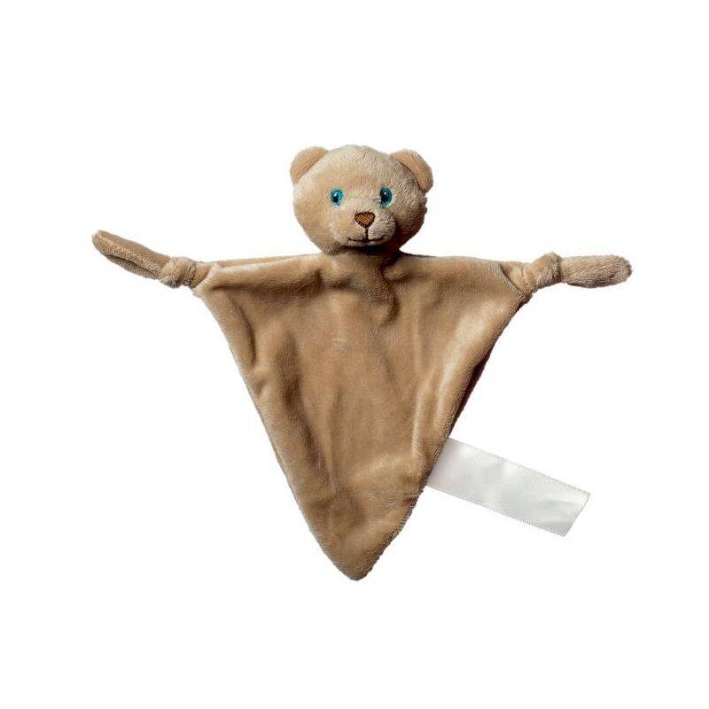 Schmusetuch Bär, dreieckig aus superweichem Plüsch