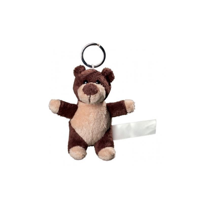 Plüsch Schlüsselanhänger Bär dunkelbraun