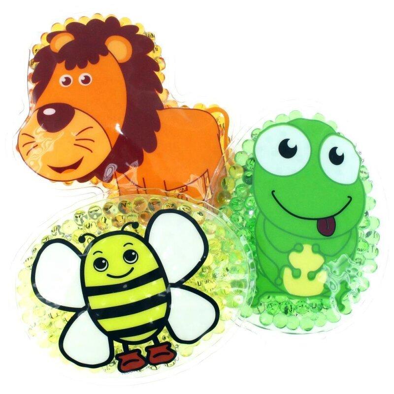 3 Kühlpads Löwe Biene Frosch
