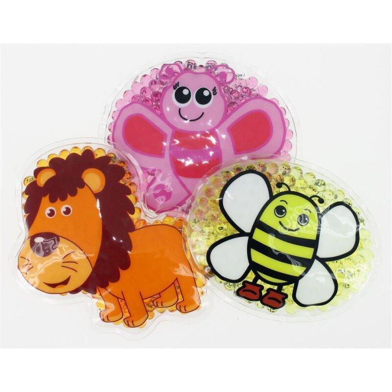 3 Kühlpads Löwe Schmetterling Biene