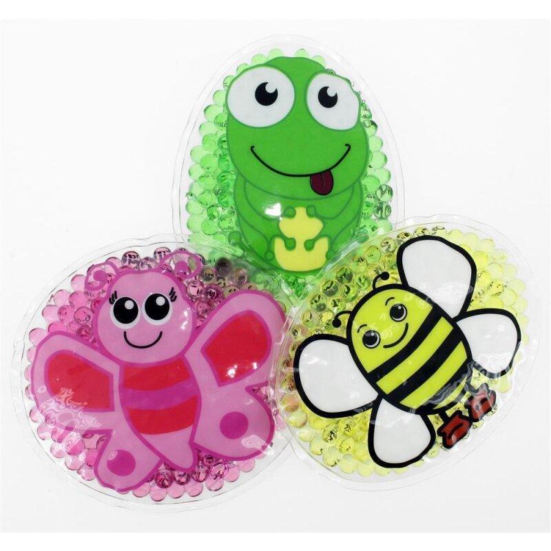 3 Kühlpads Schmetterling Biene Frosch