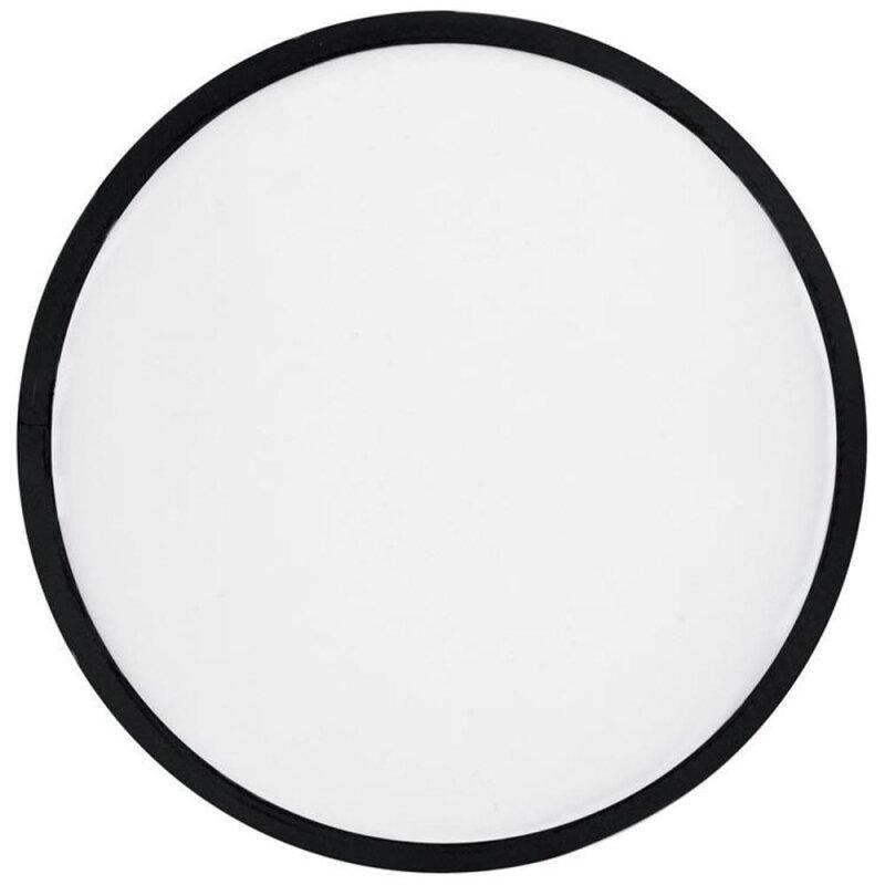 Frisbee, weiß, faltbar mit Etui aus Polyester