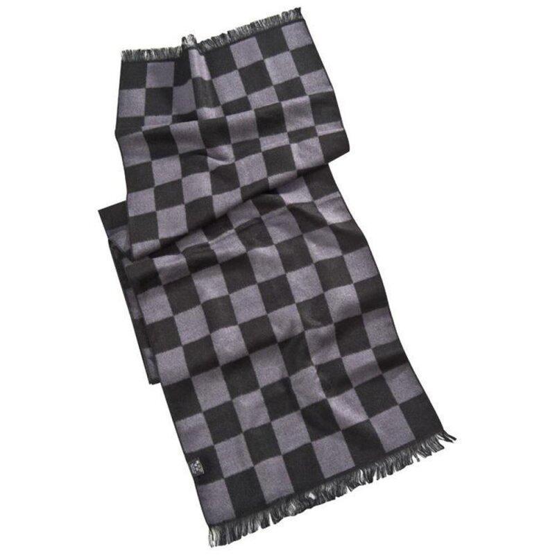 Schal mit modischem Schachbrettmuster aus 100% Baumwolle für Damen und Herren