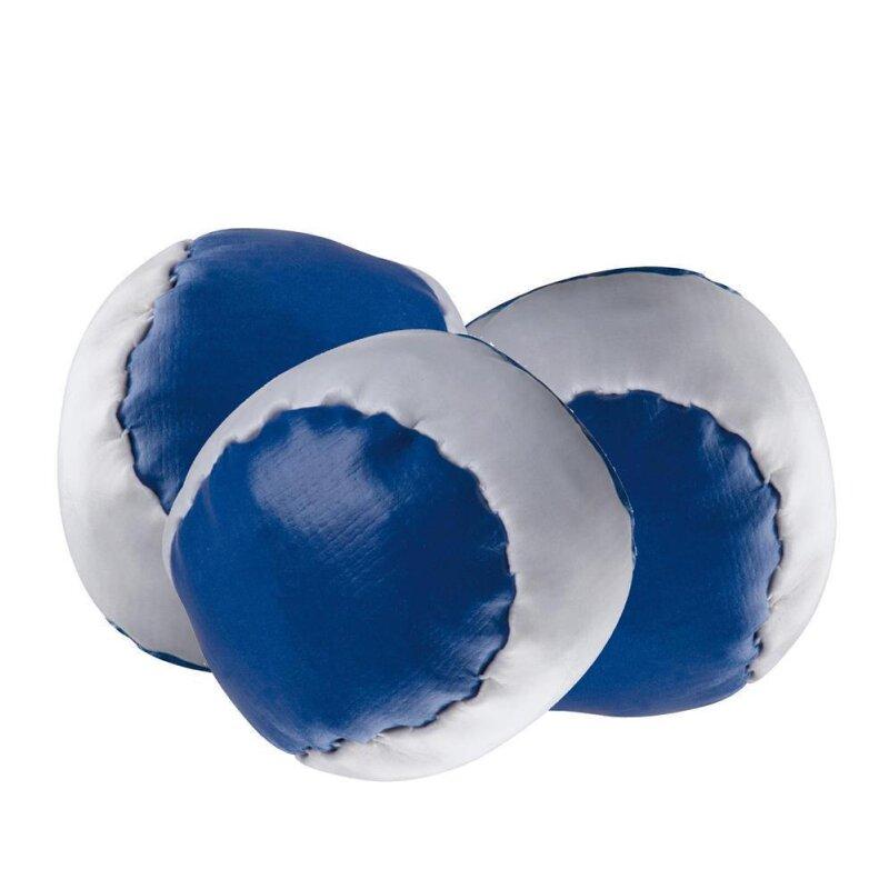 3 Anti-Stress-Bälle Blau-weiß