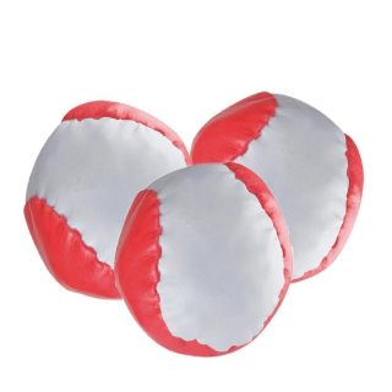 3 Anti-Stress-Bälle Rot-weiß