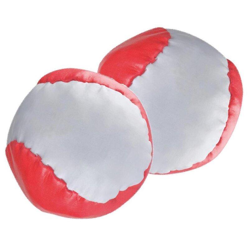 2 Anti-Stress-Bälle Rot-weiß