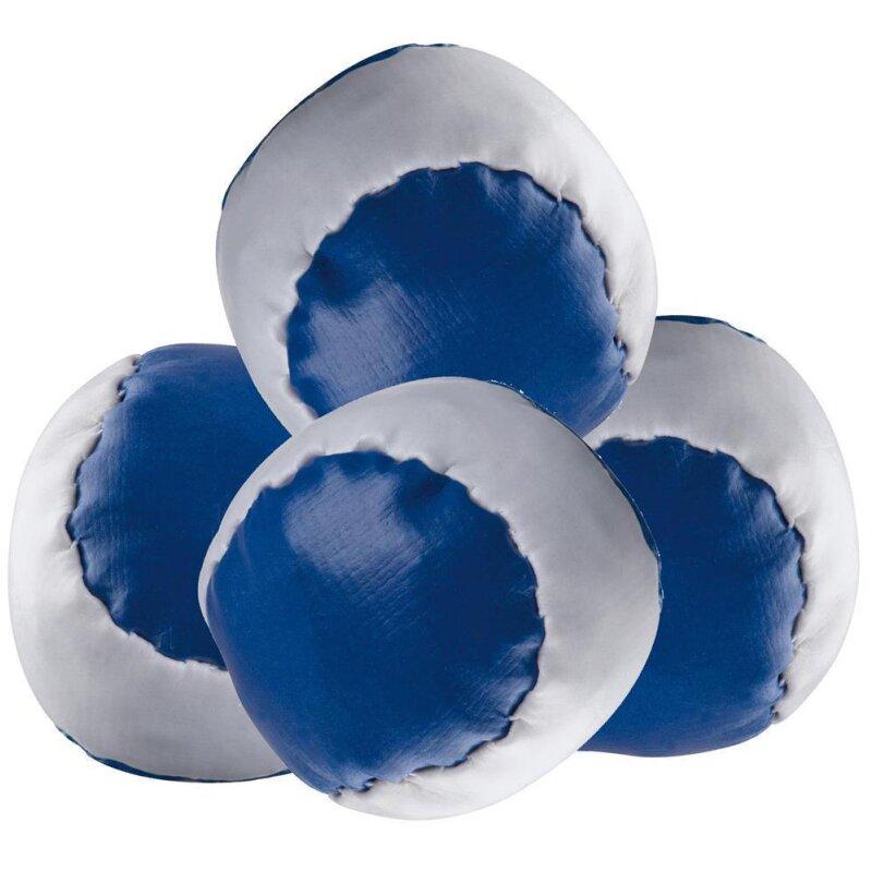 4 Anti-Stress-Bälle Blau-weiß