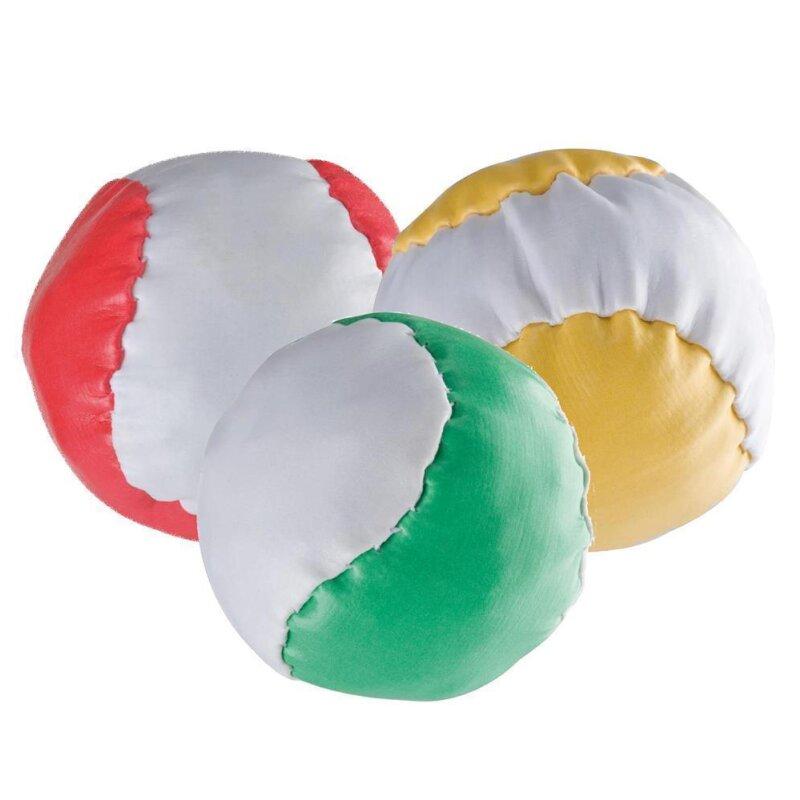 3 Anti-Stress-Bälle Rot Grün Gelb