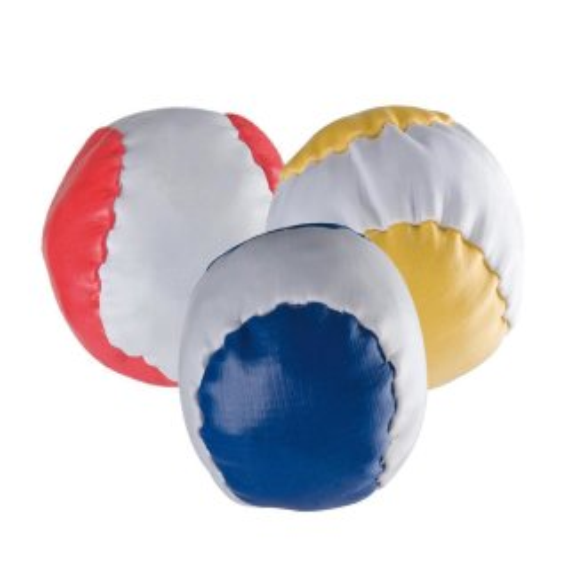 3 Anti-Stress-Bälle Rot Blau Gelb