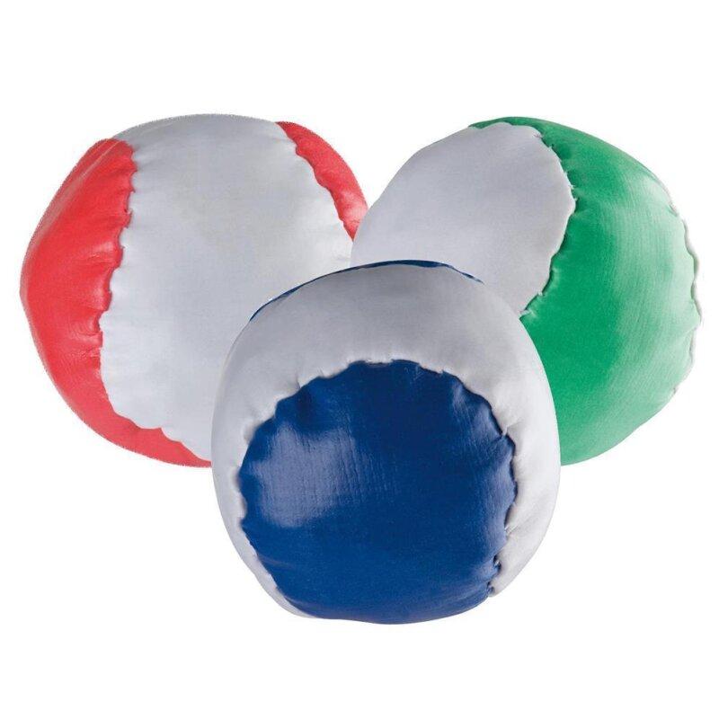 3 Anti-Stress-Bälle Rot Blau Grün
