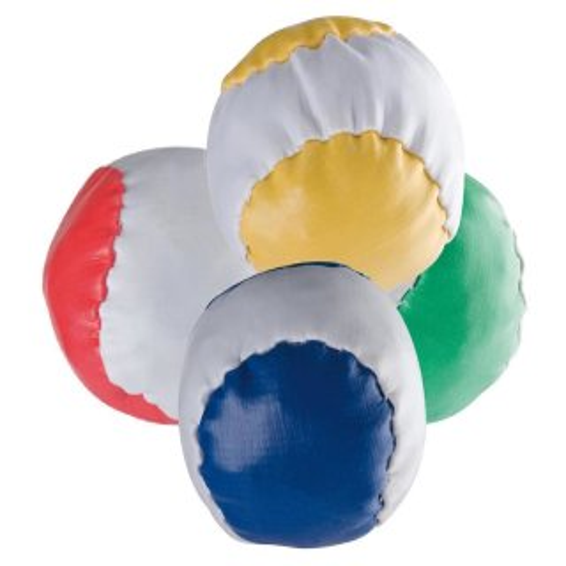 4 Anti-Stress-Bälle Rot Grün Gelb Blau