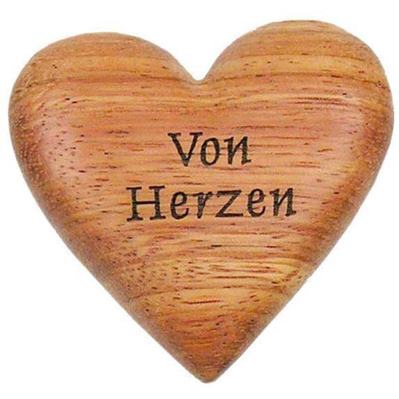 Handschmeichler, Herz aus Holz Von Herzen