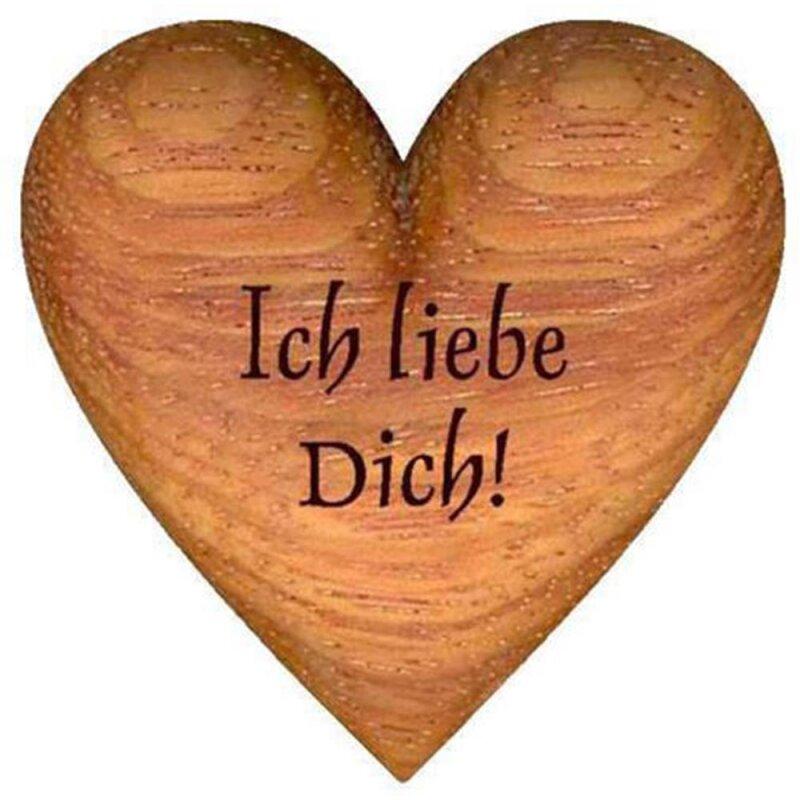 Handschmeichler, Herz aus Holz Ich liebe Dich!