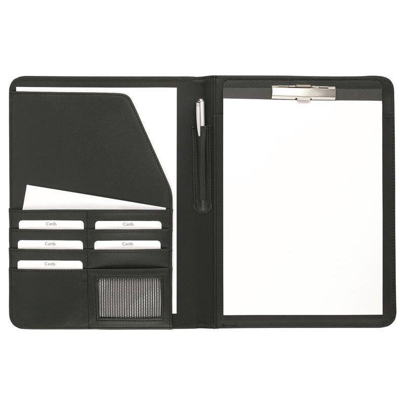 Schreibmappe A4 Einsteckfächer Visitenkartenfach Kunstleder Büro