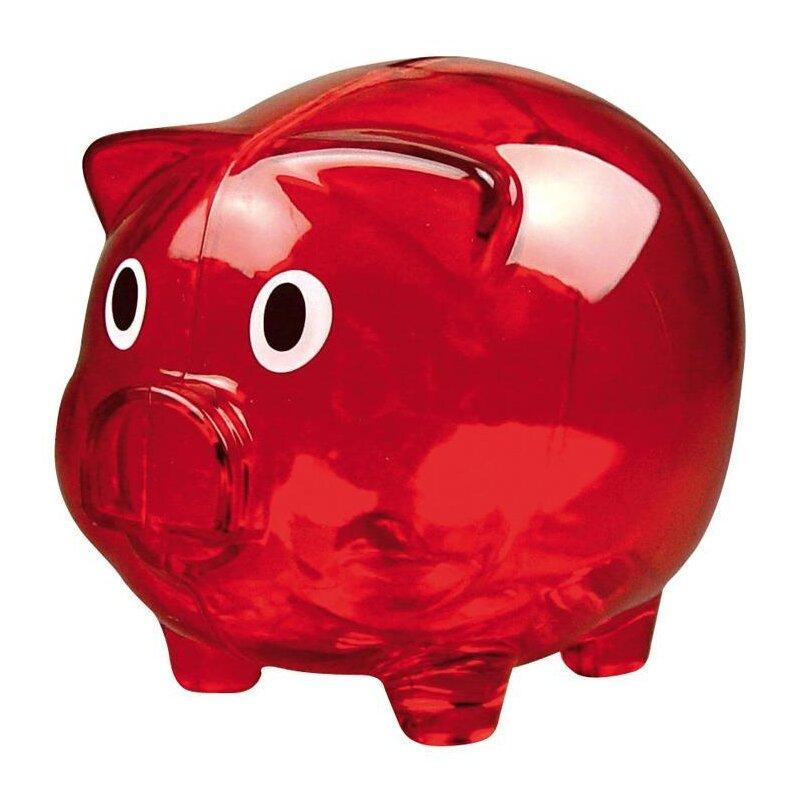 Sparschwein transparent rot