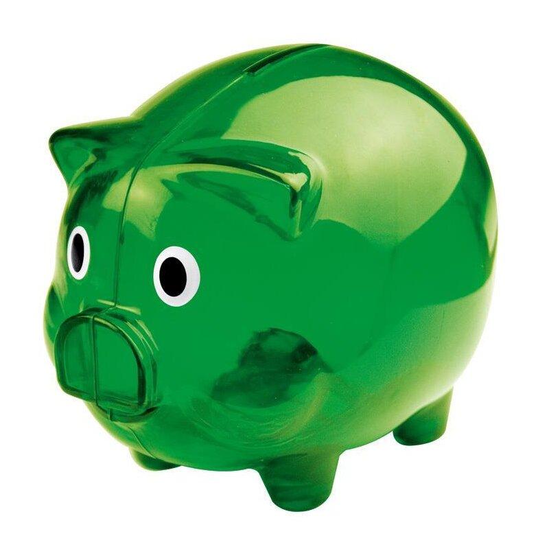Sparschwein transparent grün