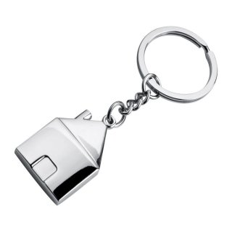Metall-Schlüsselanhänger Haus