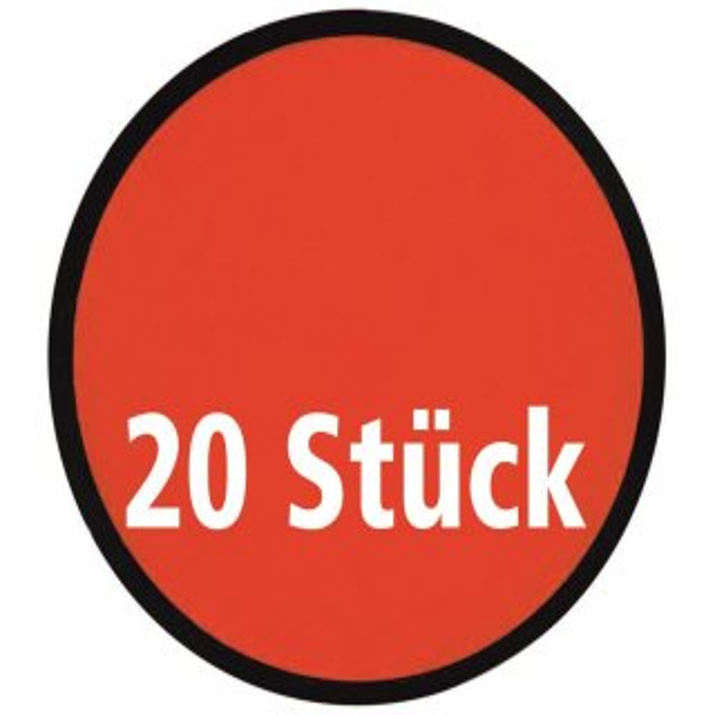 20 Frisbee, faltbar mit Etui aus Polyester, rot