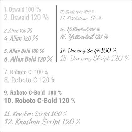 17. Dancing Script 100 %