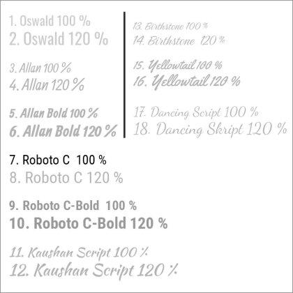 7. Roboto C  100 %