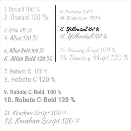15. Yellowtail 100 %