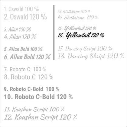 16. Yellowtail 120 %